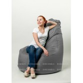 Кресло мешок Бонд Серый