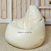 Кресло мешок Кожа Крем