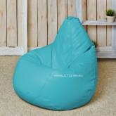 Кресло мешок Кожа Голубой