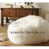 Кресло Мешок Мех Белый