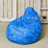 Кресло мешок Принт Синий